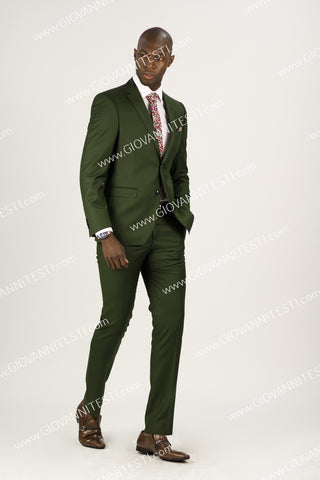 Effetti, 2pc Slim Fit Suit EFTR-612 OLIVE