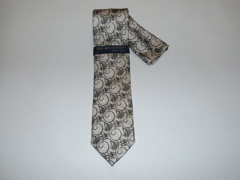 Steven Land Big Knot Tie with Hanky Set