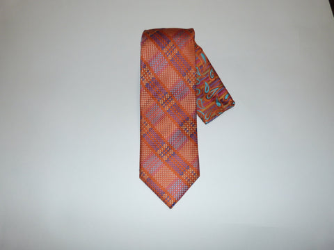 Steven Land Big Knot Pleated Silk Tie with Hanky Set