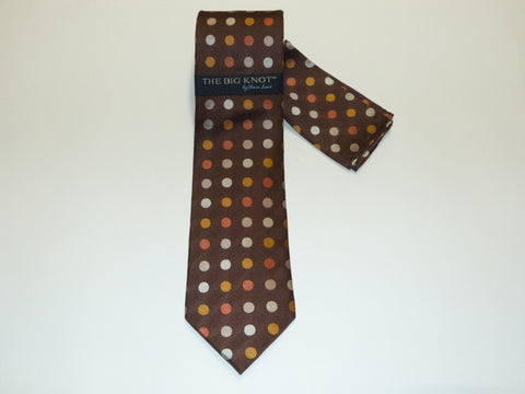 Steven Land Big Knot Silk Tie with Hanky Set