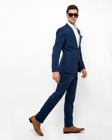 Giovanni Testi 2Piece Slim Fit Stretch Suit GT-TRAVELLER Navy