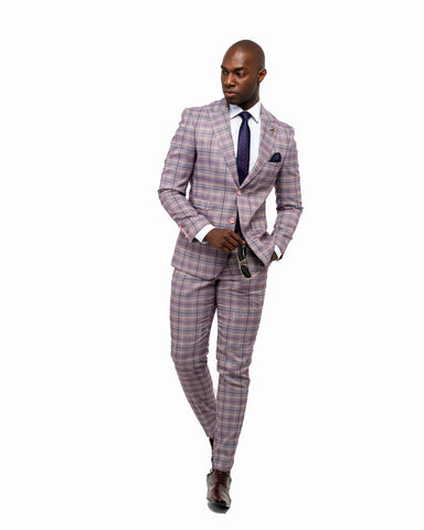 Giovanni Testi 2 Button Slim Fit  Suit with Peak Lapel GT2P-1488