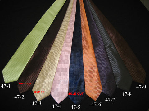 Giovanni Testi Big Knot Solid Colors Tie Style# 47