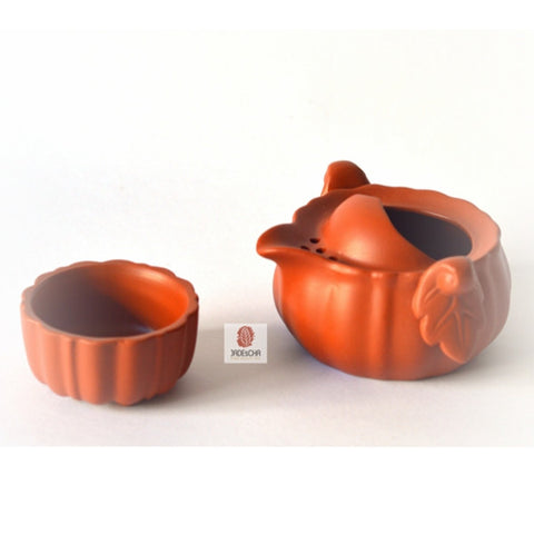 Yixing Clay Tea Pot Set - Autumn Garden