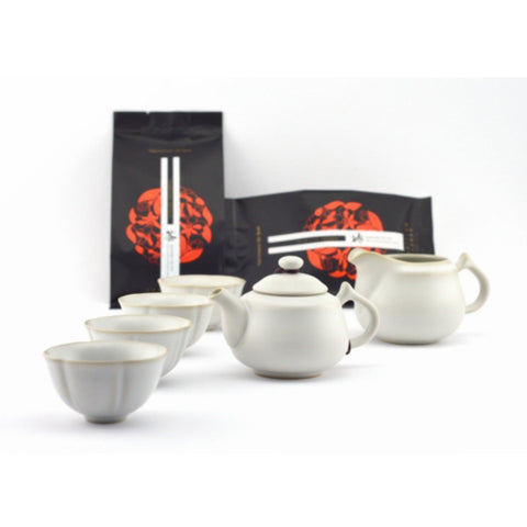 Crazing Ru Ware Gongfu Tea Gift Set with 100g of tea