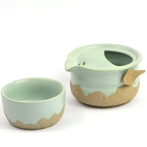 Celadon & Clay Tea Pot