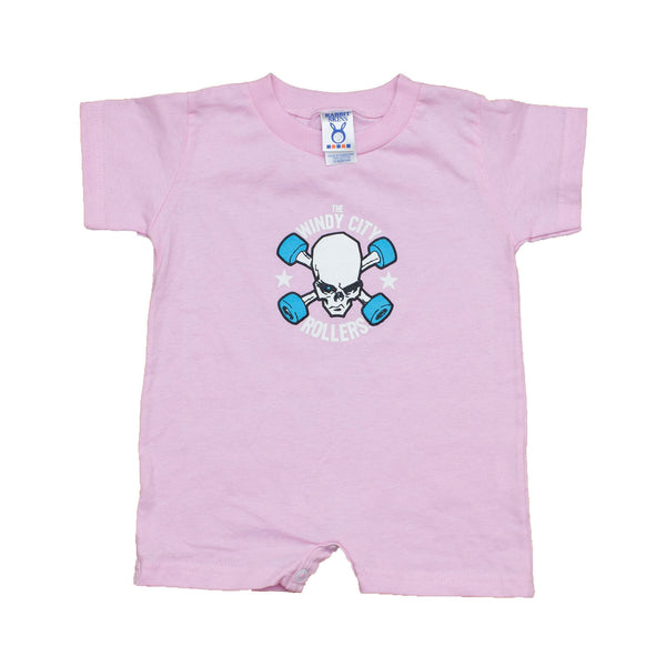 SALE! Pink Onesie or Toddler T-shirt with Windy City Rollers Logo