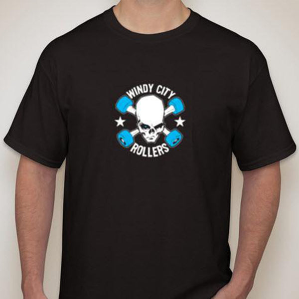 Windy City Rollers Logo Men's T-Shirt - Black