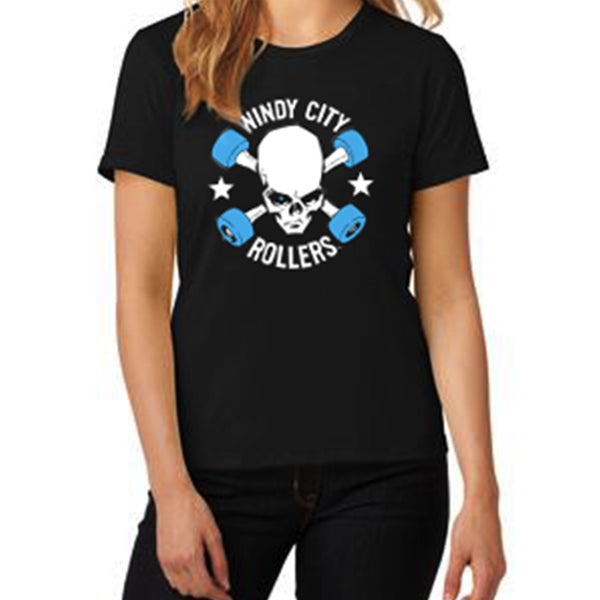 SALE! Windy City Rollers Logo Women's T-Shirt - Black