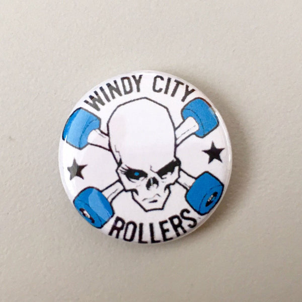 Small Button Windy City Rollers Logo