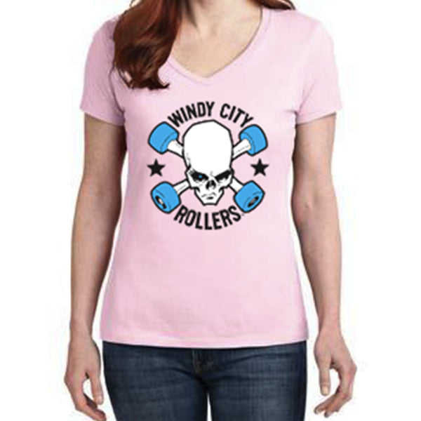 SALE! Windy City Rollers Logo Women's T-Shirt - Pink