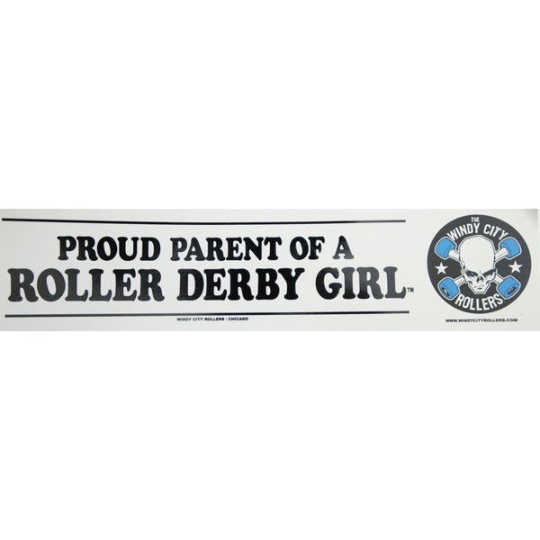 Proud Roller Derby Parent Bumper Sticker