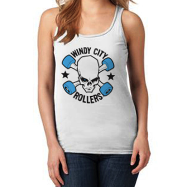 Windy City Rollers Logo Women's Tank - White
