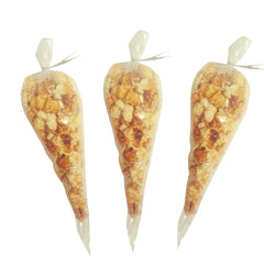 Gourmet Colored and Flavored Popcorn Cone Bags Party Favor Wedding Favor Baby Shower Favor -2 cups each-24 Pack