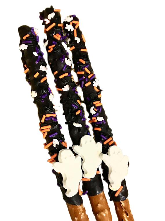 Ghost, Halloween, Chocolate Covered Pretzel Sticks