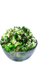 Green Popcorn in a bowl