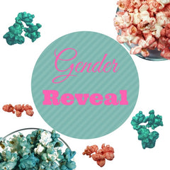 Pink and Blue Baby Shower Gender Reveal Popcorn 4- Pack (72 Cups Per Case)