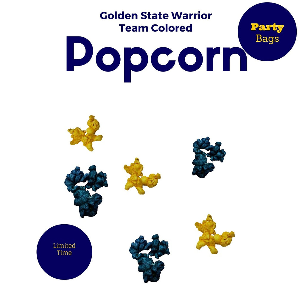 Golden State Warrior Colored Popcorn 4 Pack 72 Cups per Case