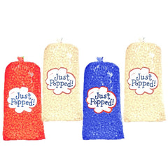Independence Day Fourth of July Memorial Day Colored Popcorn 4- Pack (72 Cups Per Case)