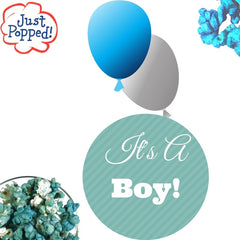 Baby Blue Colored Baby Shower Party Popcorn 4- Pack (72 Cups Per Case)