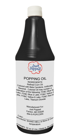 Black Colored Popcorn Popping Oil 32 Oz