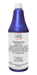 Blue Colored Popcorn Popping Oil 32 Oz
