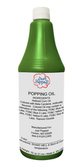 Green Colored Popcorn Popping Oil 32 Oz