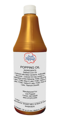 Orange Colored Popcorn Popping Oil 32 Oz