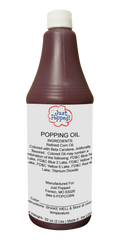Red Colored Popcorn Popping Oil 32 Oz