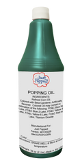 Turquoise Colored Popcorn Popping Oil 32 Oz