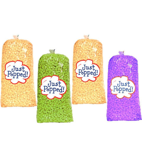 Mardi Gras Colored Popcorn 4- Pack (72 Cups Per Case)