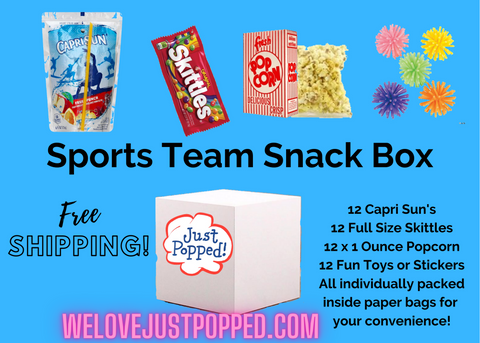 Sports Team Snack Mom Dad Parent Goodie Bag Easy Snack Bundle -12 Pack