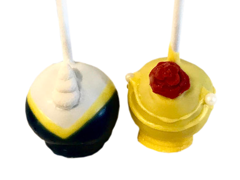 Beauty, Beast, Belle Cake Pops - Be Our Guest
