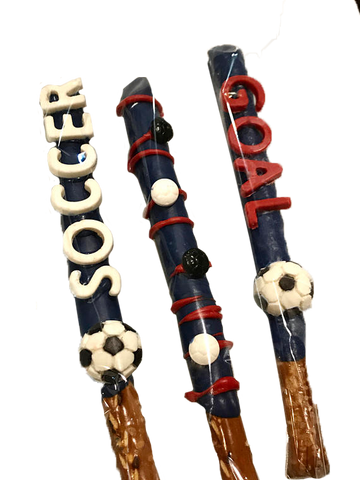 Soccer Chocolate Covered Pretzels