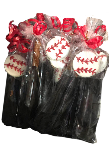 Baseball Bat and Baseball Chocolate Covered Pretzel and Oreos, Ball