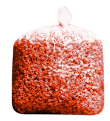 Bulk Maroon Christmas Colored Popcorn Large Bag Bulk Party Bag (175 Cups per Case)