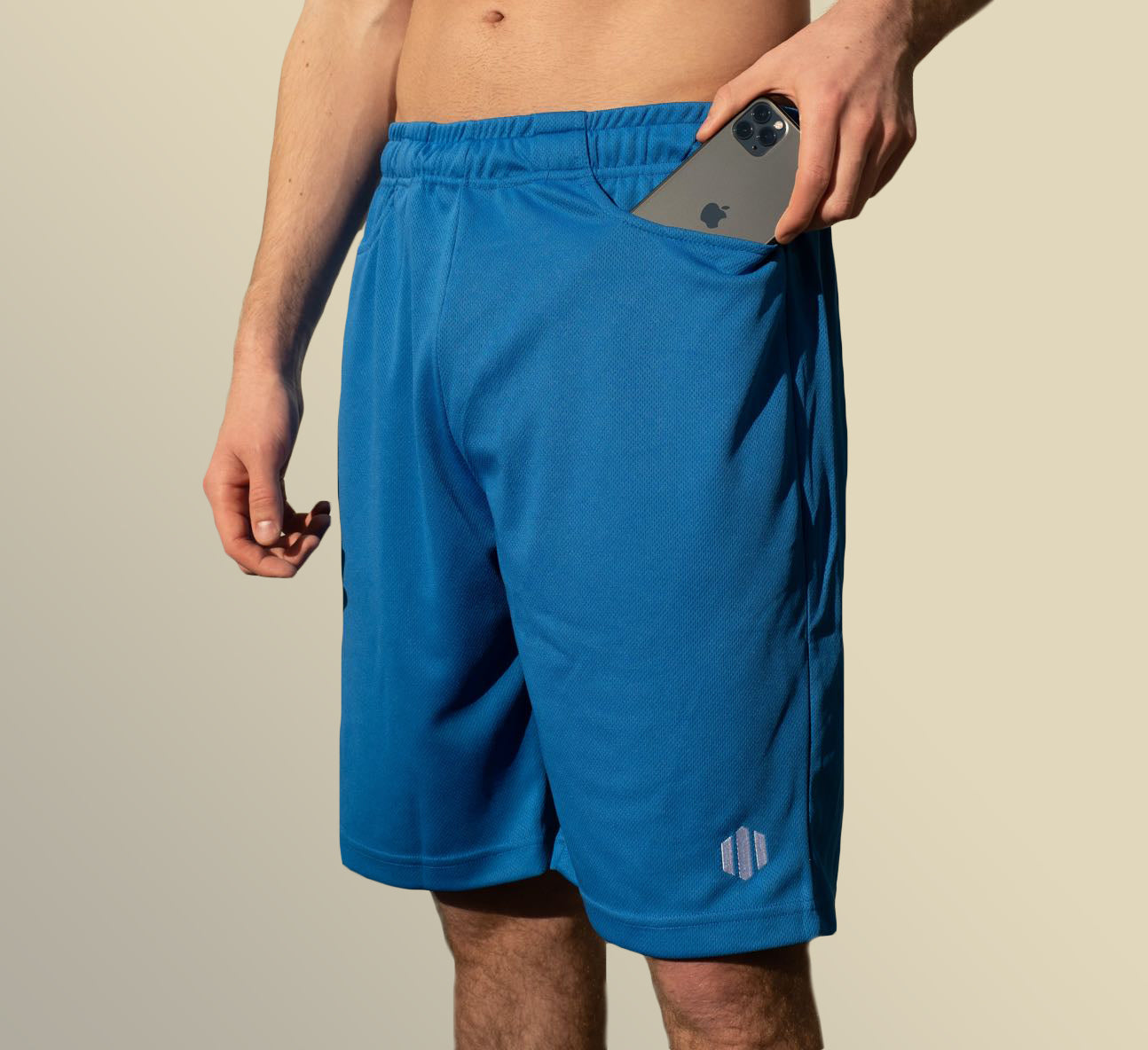 Mens athletic shorts with pockets