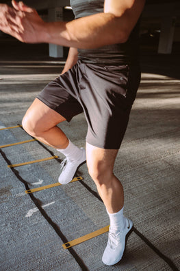 Running shorts with pockets
