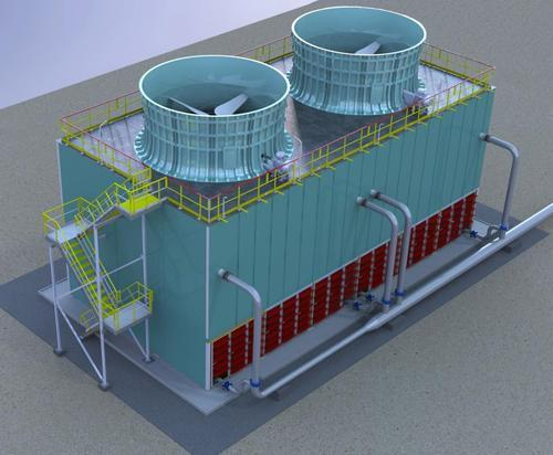 How does the cooling tower startup work?