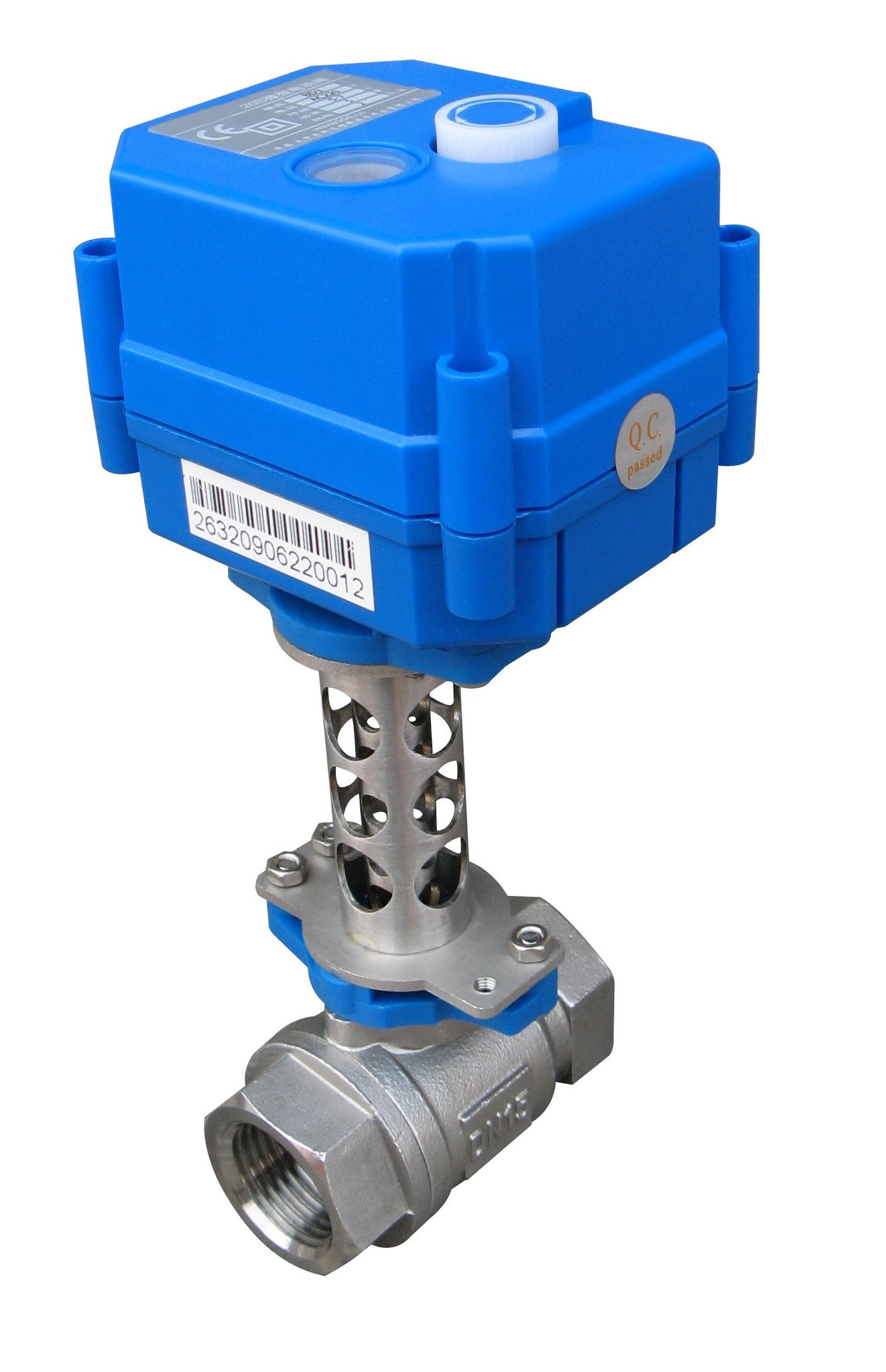Electric motorized ball water control valve YS20SHT High Temperature, 3 wires actuator 95-250 VAC  #yamavalve - Yamatho Supply