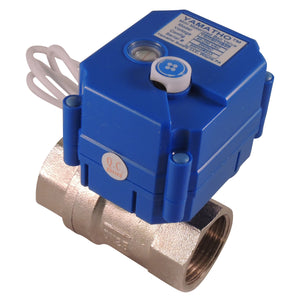 Electric motorized water control valve YS20S, 2 wires actuator 95-250 VAC Normally Closed - Yamatho Supply