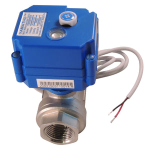 Electric motorized ball water control valve YS20SKT2S, 2 wires w/position elec ind, normally closed 24 VDC.  #yamavalve - Yamatho Supply