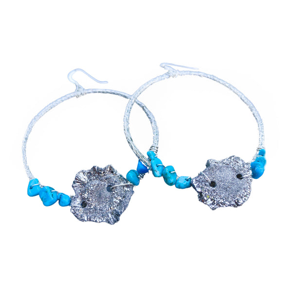 Step Into Your Light Warrior Hoop Earrings