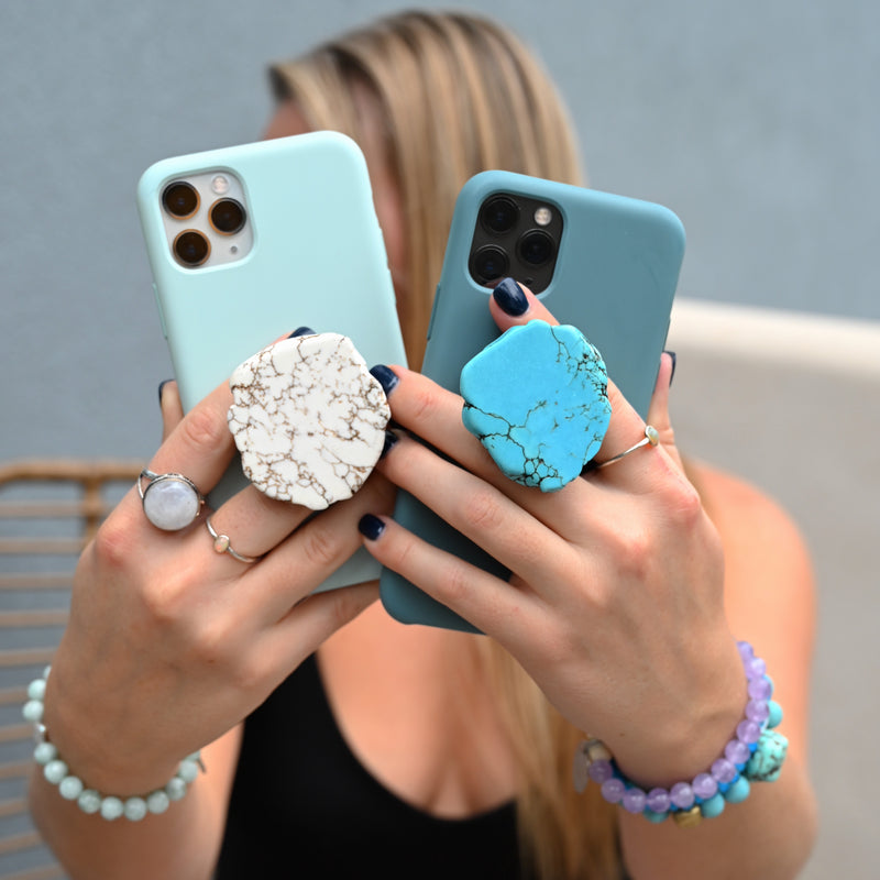 Too Cool Turquoise Gemstone Phone Grip