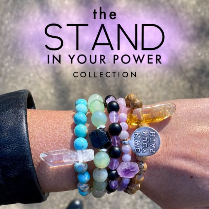 Stand In Your Power Black Agate Bracelet