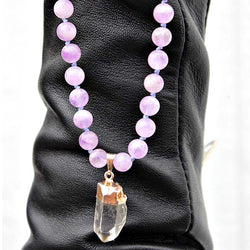 Accessories, Bracelet - Amethyst & Quartz Beaded Necklace