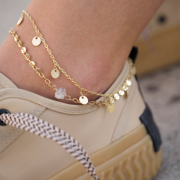 Diamond Coin Anklet