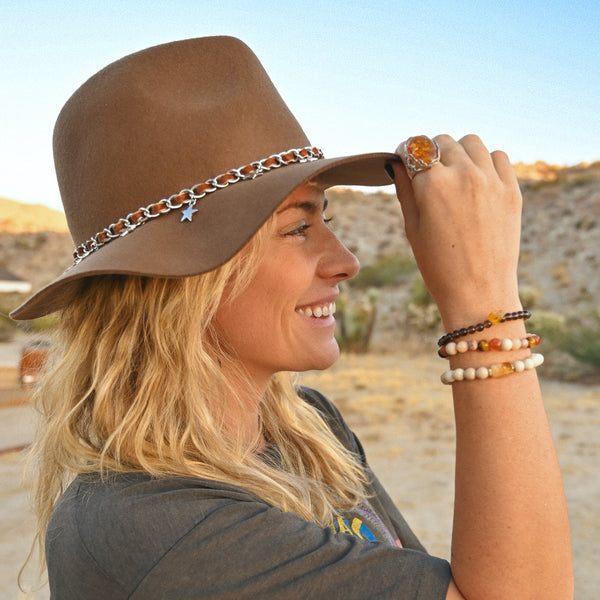 Fall BE HERE NOW Bracelet Stack