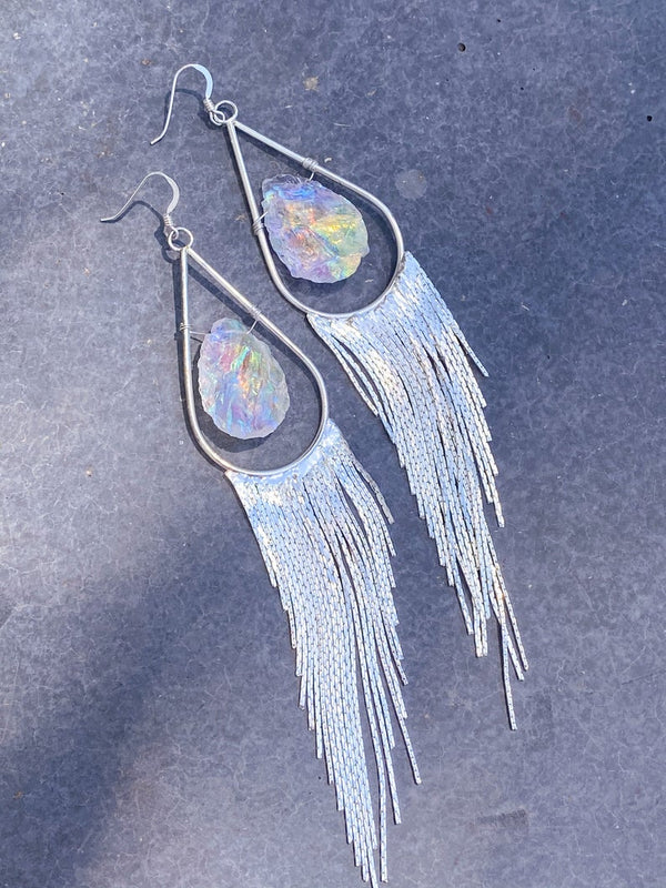 Aura Quartz Fringe Earrings