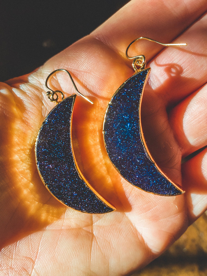 Dark Moon Manifestation Earrings